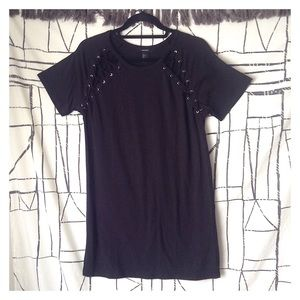 Forever 21 Lace-Up Cut Out T-Shirt Shift Dress